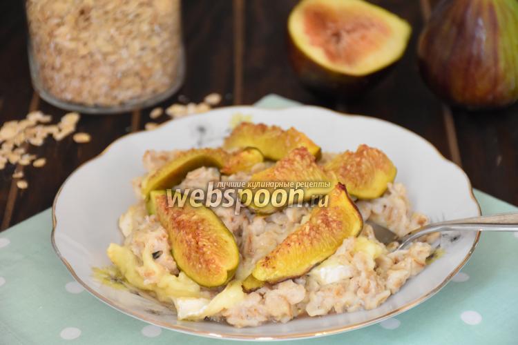 Рецепт Овсяная каша с сыром и инжиром