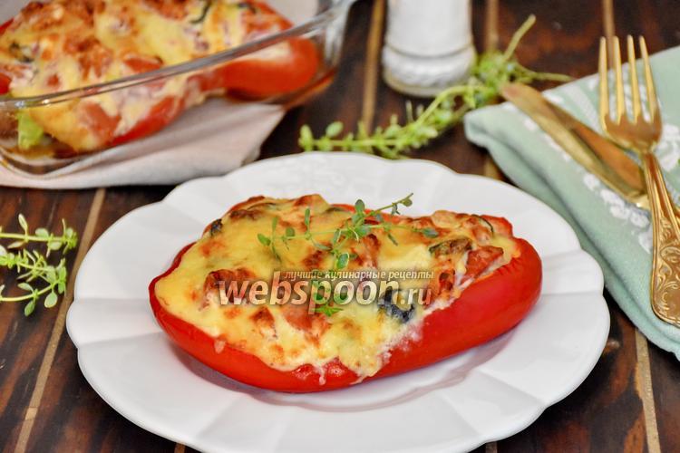 перец фаршированный в духовке с овощами рецепт