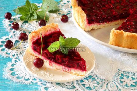 Вишнёвый пирог из творожного теста