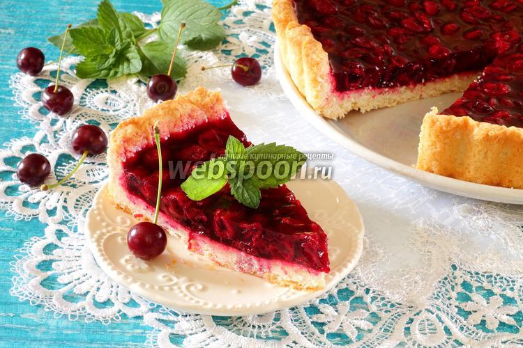 Рецепт Вишнёвый пирог из творожного теста