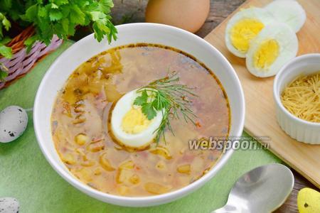Суп с куриными гребешками