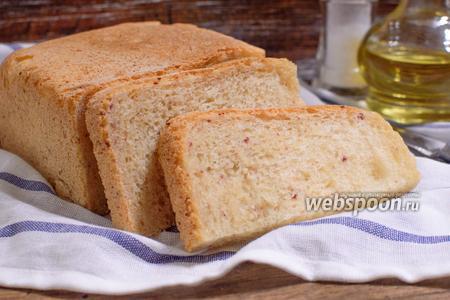 Белый хлеб с ветчиной в хлебопечке