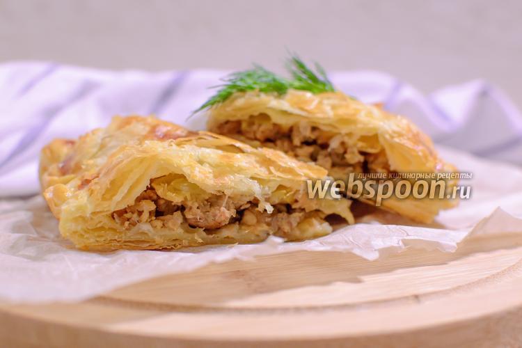 Фото Пирог с мясом и яблоками