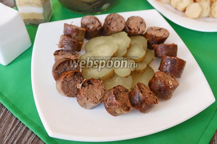 Фото Колбаса из печёнки и куриных сердечек