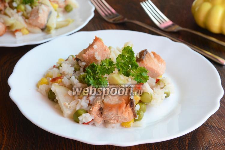 Рецепт Горбуша с рисом и овощами