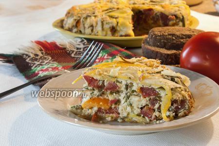Террин из цукини с сыром и помидорами