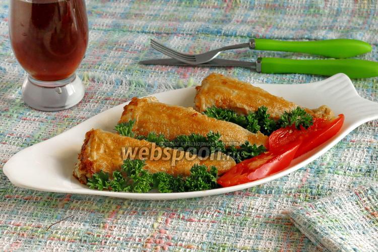 Рецепт Рыба в вафлях «Рыбные хвостики»