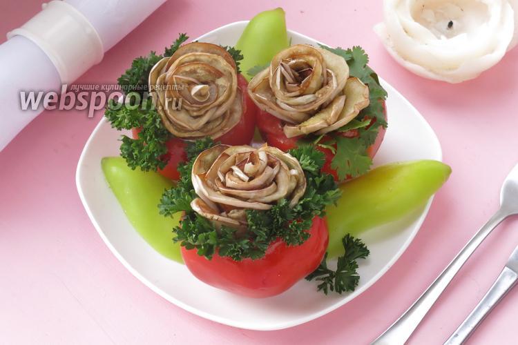 Рецепт Белые баклажаны «Розы»
