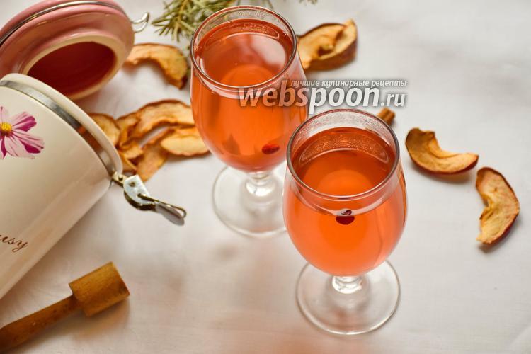Рецепт Компот из сушёных яблок и клюквы