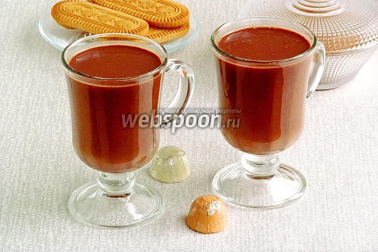 Рецепт Горячий шоколад имбирный