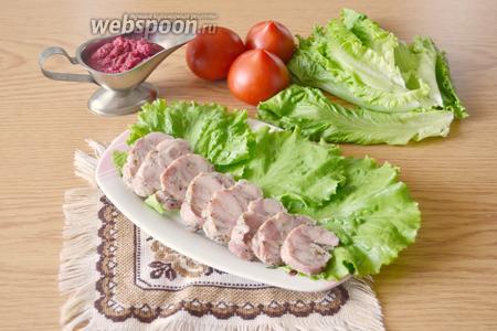 А вот так выглядит колбаска в разрезе.