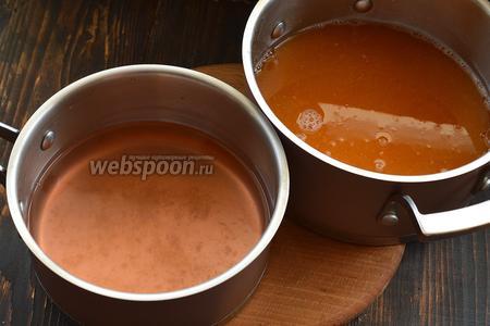 Получатся 2 типа жидкости: с мякотью и без мякоти.