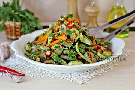 Тёплый салат из овощей