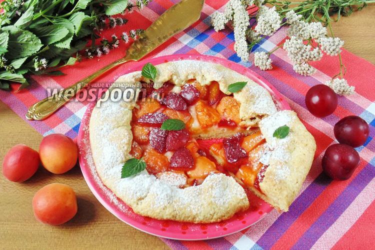 Рецепт Галета с алычой и абрикосами