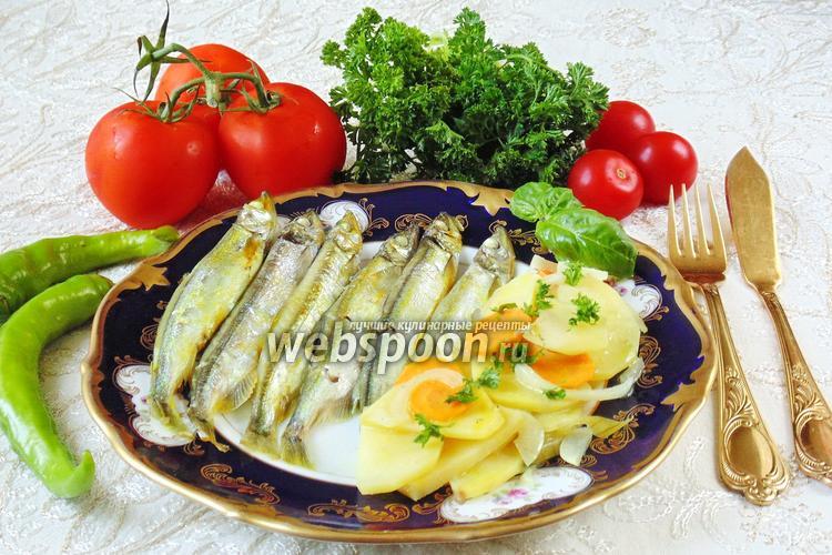Рецепт Мойва с картошкой в духовке