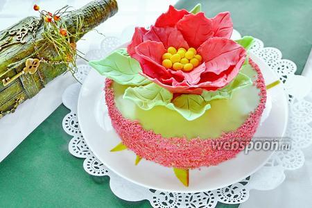 Торт «Аленький цветок»