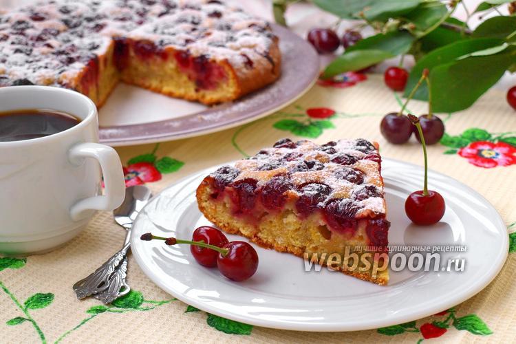 Рецепт Вишнёвый пирог быстрый
