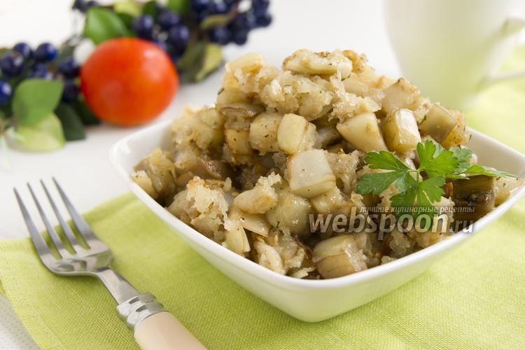 Рецепт Белые баклажаны, жаренные с хлебными крошками