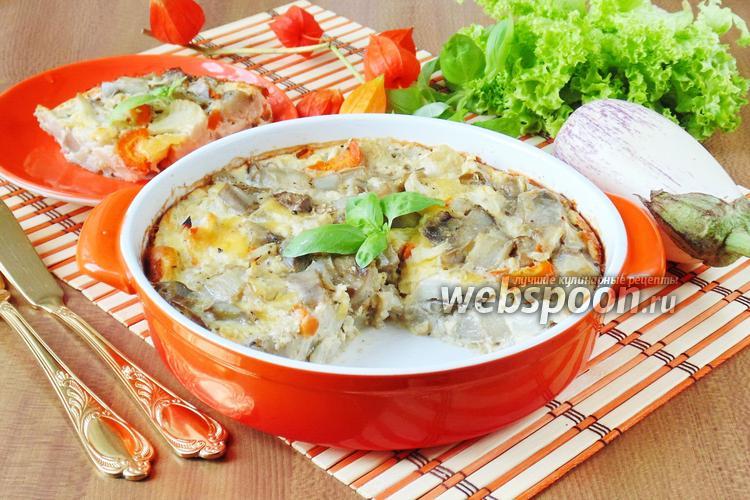 Рецепт Запеканка из баклажанов с цветной капустой