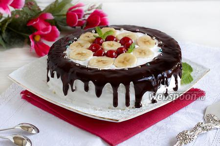 Фруктовый торт из микроволновки