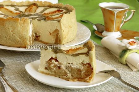 Вот такой торт в разрезе. Приятного аппетита!