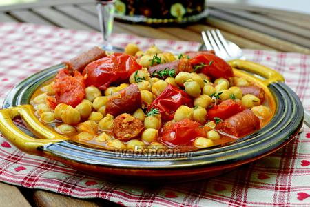 Гарбанзос кон Чоризо — нут с колбасой Чоризо
