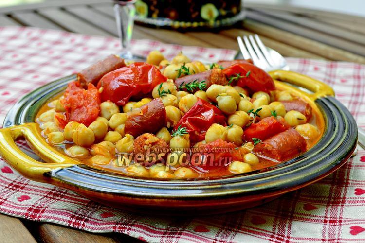 Рецепт Гарбанзос кон Чоризо — нут с колбасой Чоризо