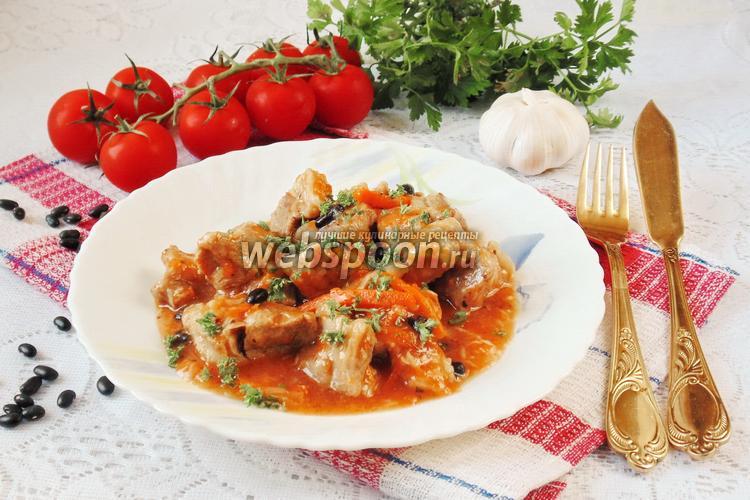 Рецепт Жаркое из свинины с чёрной фасолью