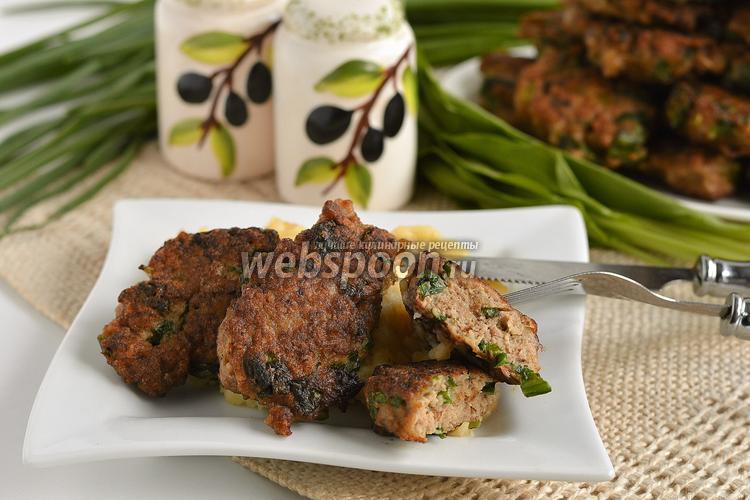 Рецепт Оладьи из курицы и черемши