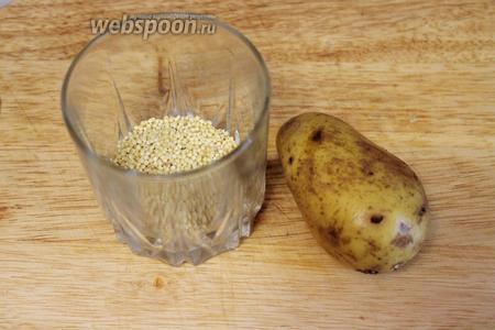 Для заправки взять картофель и пшено.
