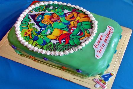 Торт «Черепашки ниндзя»
