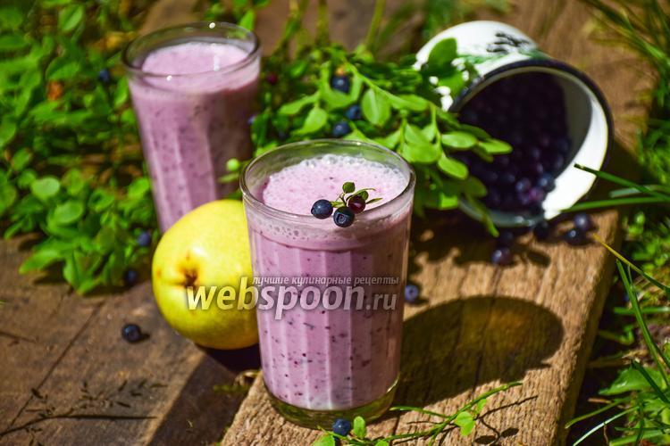 Рецепт Смузи черника-груша