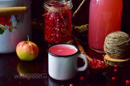 Кисель бруснично-яблочный