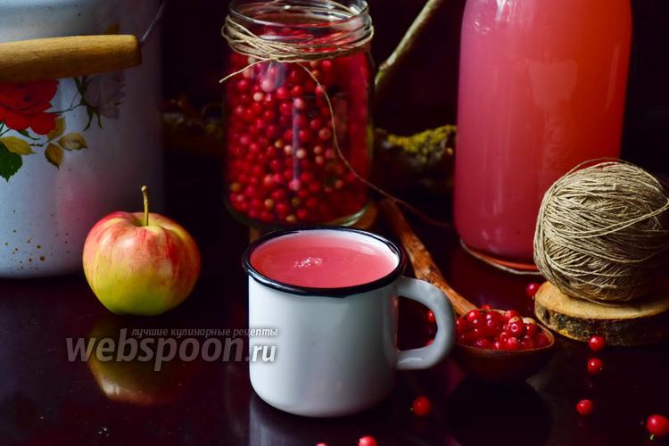 Рецепт Кисель бруснично-яблочный