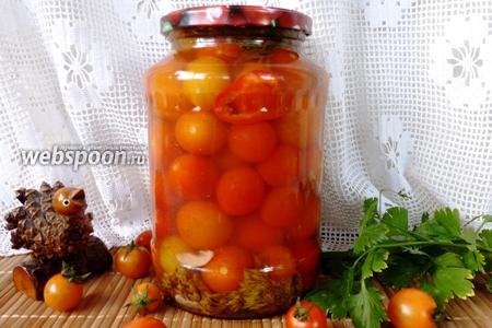 Маринованные помидоры черри с корицей