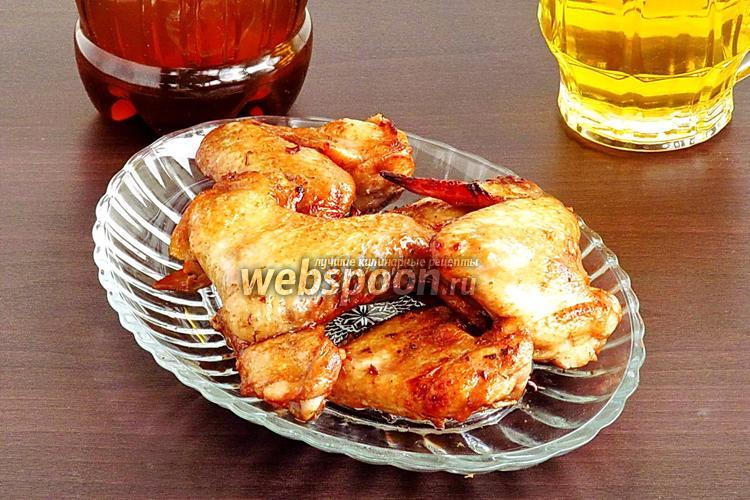 Рецепт Крылышки к пиву в остром соусе, запечённые в аэрогриле