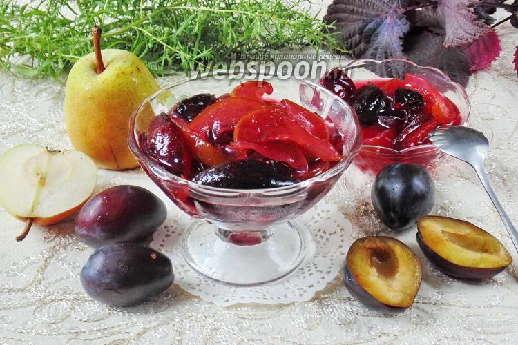 Рецепт Варенье из слив и груш