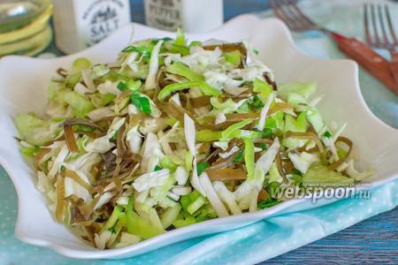 Салат с морской капустой и огурцами
