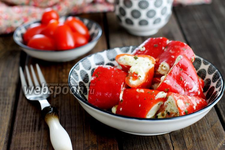 Фото Перец фаршированный творожным сыром