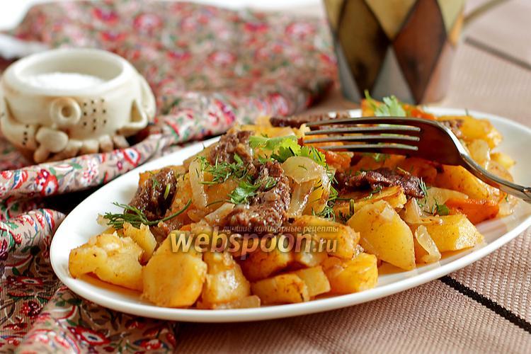 Рецепт Картофель с мясом в рукаве