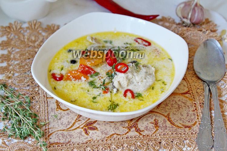Рецепт Сливочный суп с курицей и овощами