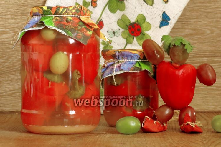 Рецепт Перец фаршированный виноградом на зиму