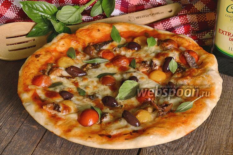 Фото Пицца с сардинами