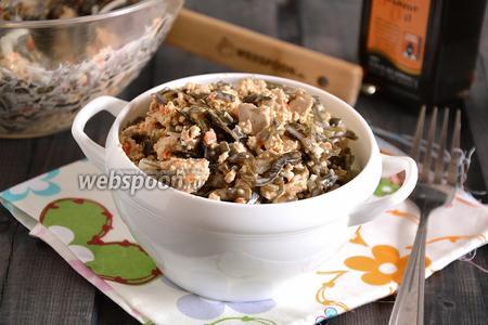 Салат из морской капусты с тофу