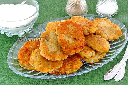 Картофельные оладьи с фаршем
