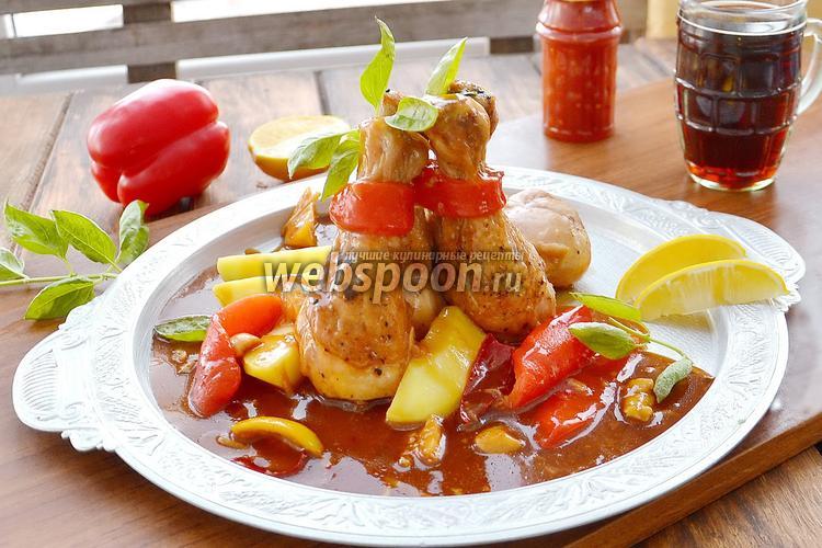 Фото Курица в остро-сладком соусе