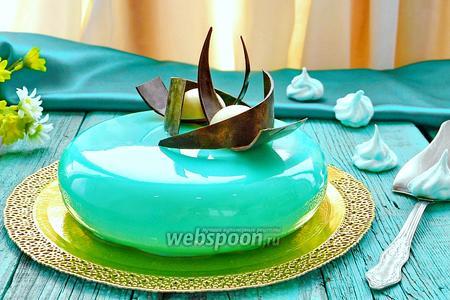 Муссовый торт с зеркальной глазурью