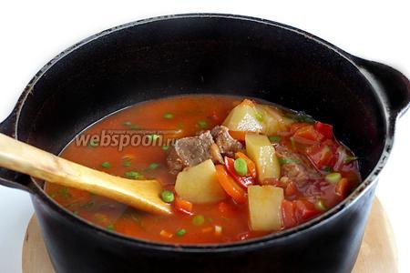 Добавить зелень и зиру в суп, дать настояться 10 минут и подавать. Попробуйте, это очень вкусно, ещё равнодушных не было. Приятного аппетита!