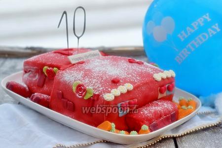 Торт «Свинка из Майнкрафт»