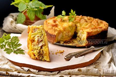 Пирог с брокколи и курицей